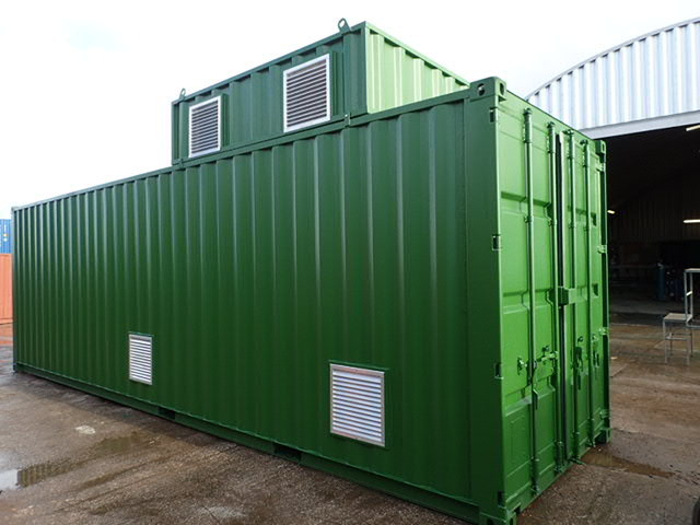 shipping container boiler house