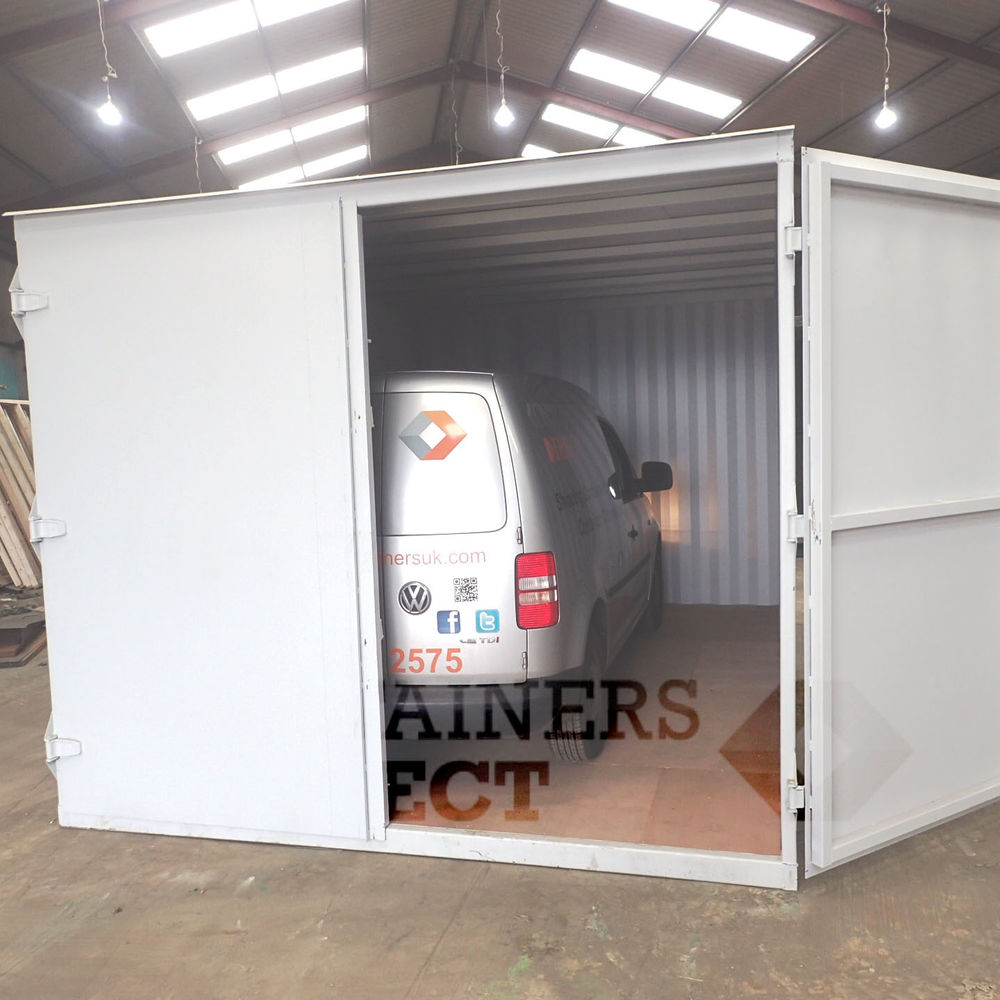 10ft wide shipping container garage