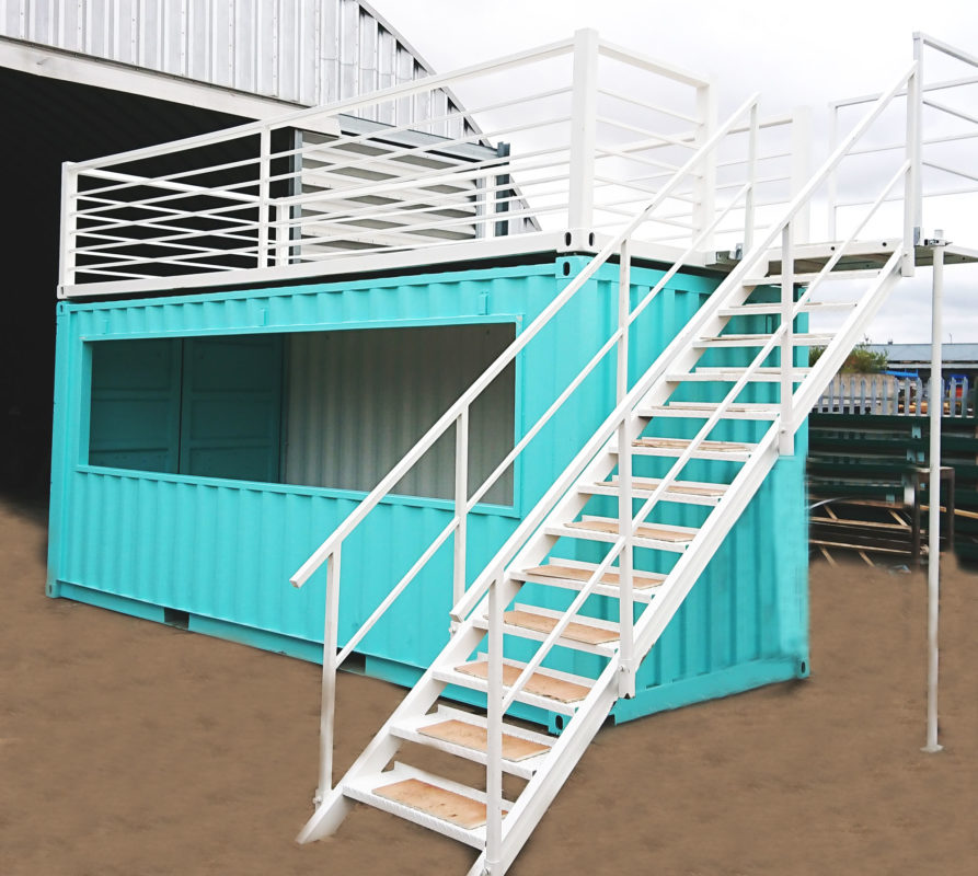 20ft Pop up Container Bar Conversion with Platform
