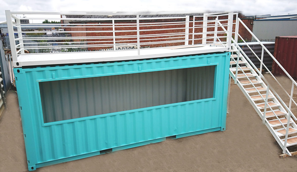 Pop Up Container Bar with Staircase and Platform