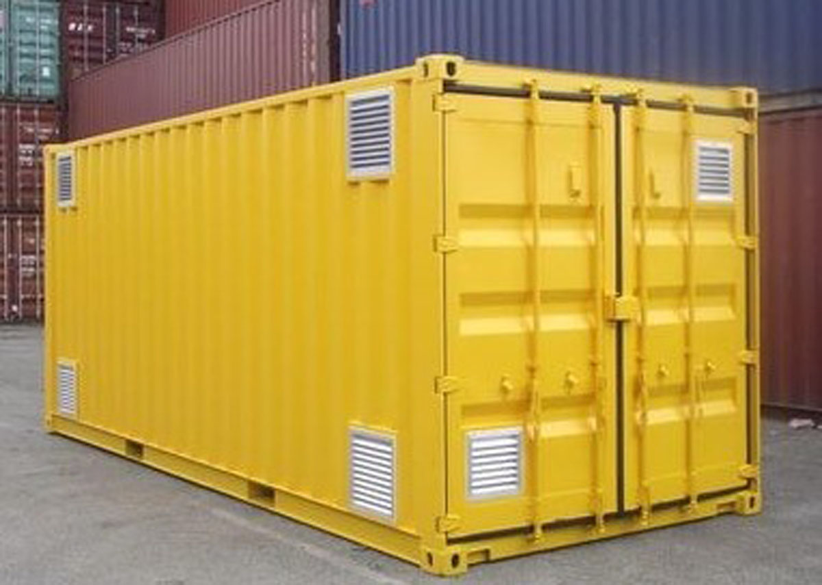 shipping container chemical store