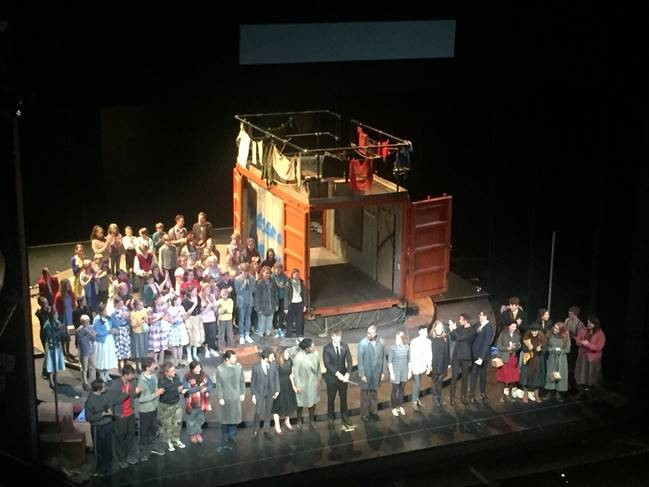 shipping container pop up stage for Glyndebourne Opera
