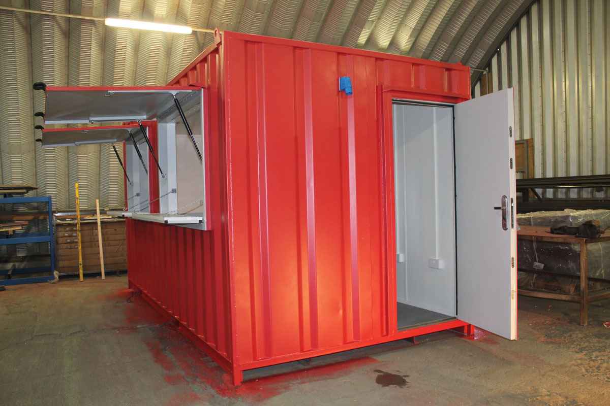 pop up container catering conversion unit