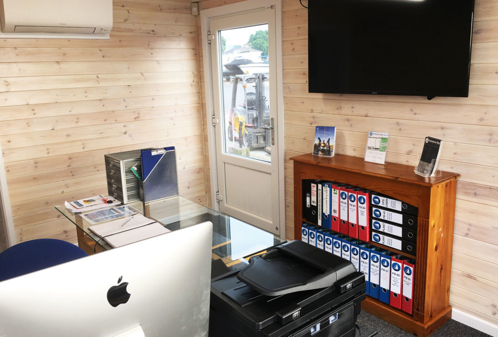 Office container conversion inside