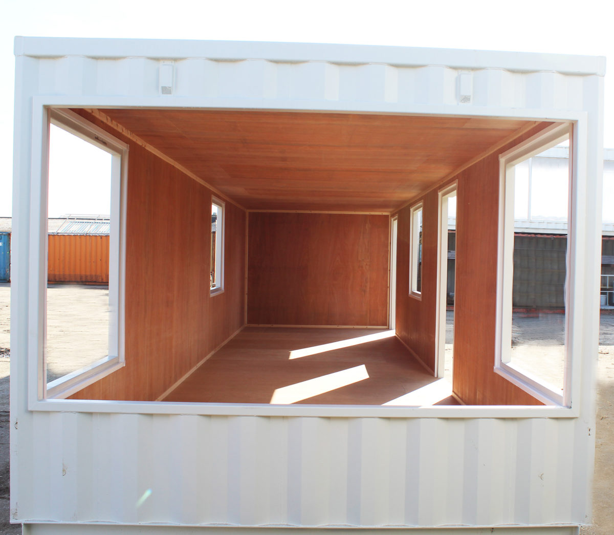 Office container conversion ply lined