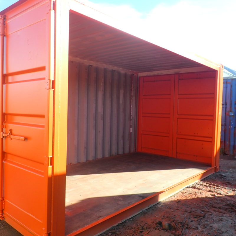 shipping container pop up stage