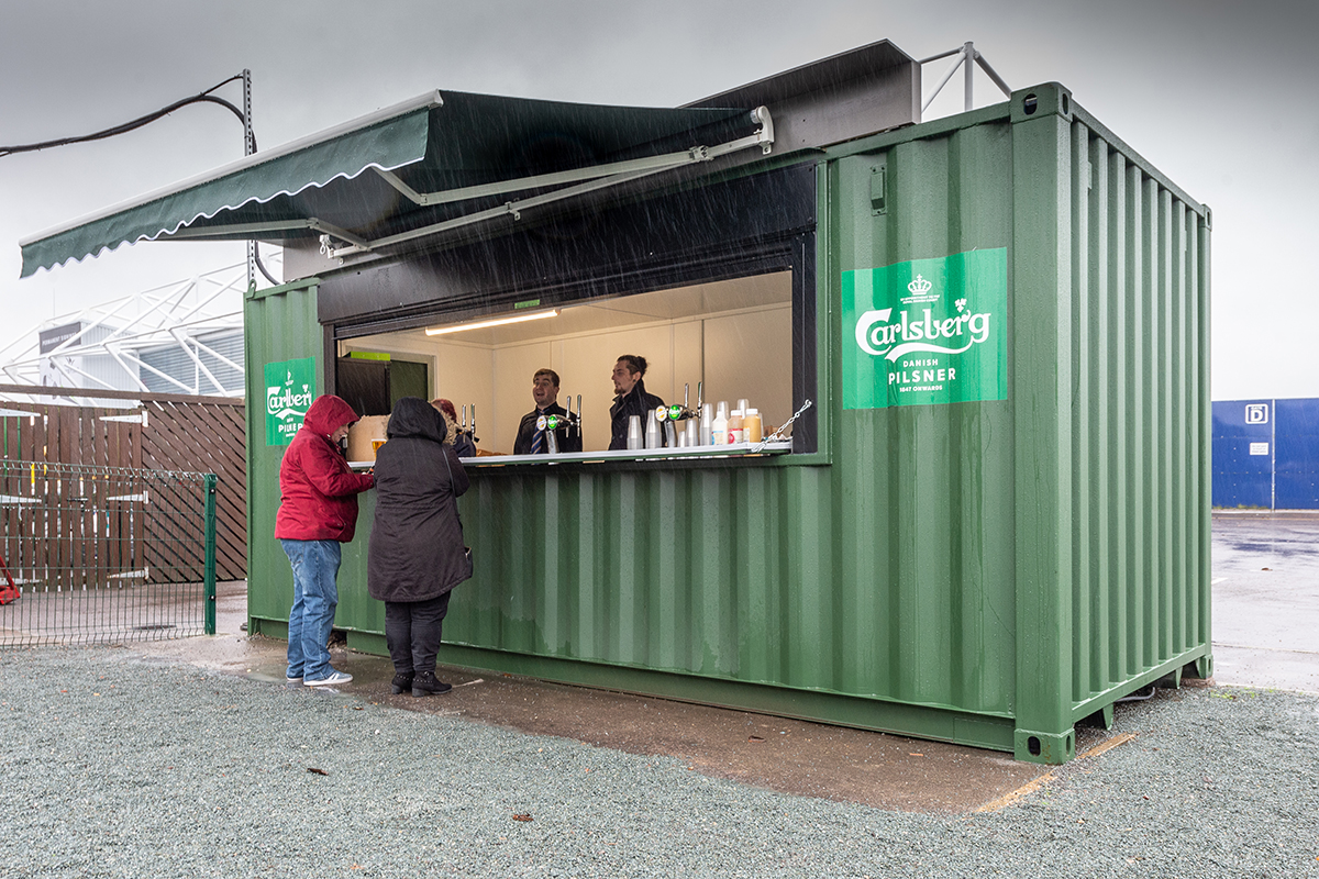 shipping container pop-up bar
