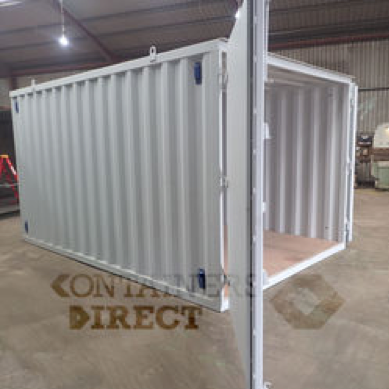 10ft wide shipping container garage new build