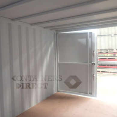 10ft wide shipping container garage inside