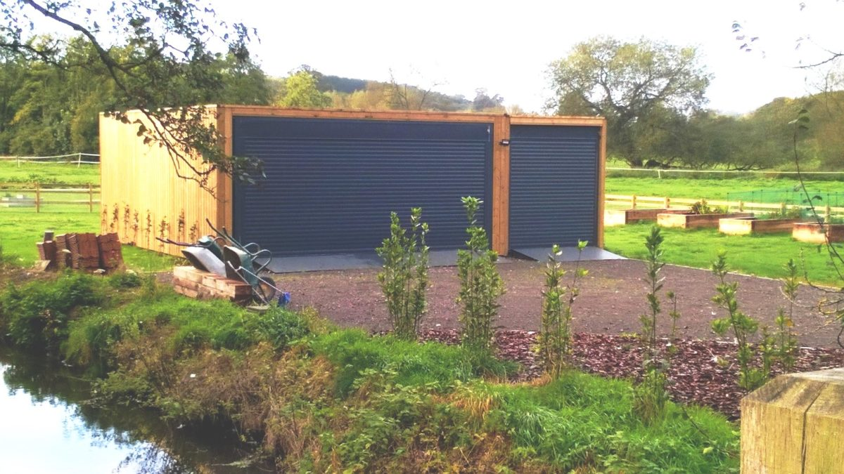shipping container garage joined up units